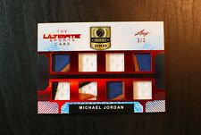 🌟 MICHAEL JORDAN 2019 Leaf Ultimate 8x Jersey Multi-Swatch Relic /3 1/1 MINT
