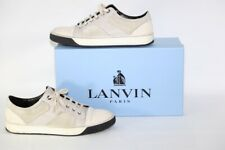 LANVIN White Leather Lace Up Sneakers Shoes Size 10