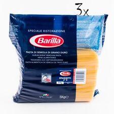 3x Pasta Barilla Spaghetti Ristorante Nr. 5 italienisch Nudeln 5 kg pack
