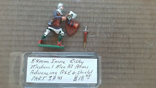 54mm Imrie- Risley Miniatures  Medieval Man At Arms advancing Axe & Shield