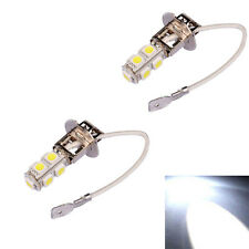 2x H3 Lentille 9 LED SMD Auto Xénon Blanc Brouillard Conduite Phare CREE Ampoule