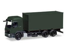 Herpa 013383 H0 LKW MiniKit Mercedes Actros L Wechselkoffer mit Container Bundes