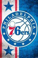 PHILADELPHIA 76ERS - 2015 LOGO POSTER - 22x34 NBA BASKETBALL 14495