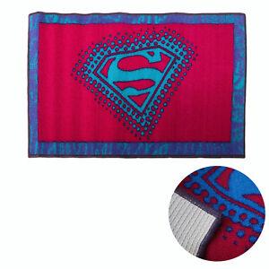 Super Girl Children Kids Rubber Non slip Floor Rug 50 x 80cm