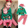 3PCS Newborn Kids Baby Boy Girl Elf Outfits Clothes T-shirt Tops +Long Pants Set