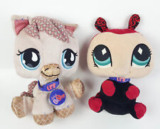 Lot of 2 Littlest Pet Shop Plush Figures Horse & Ladybug Soft Toys 2007