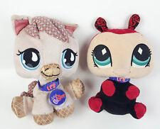 Lot of 2 Littlest Pet Shop Plush Figures Horse & Ladybug Soft Toys 2007