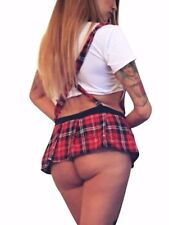 SEXY Naughty School Girl Fancy Dress Costume Outfit Secretary 692a One Size M