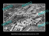 OLD LARGE HISTORIC PHOTO TUFNELL PARK LONDON ENGLAND DISTRICT AERIAL VIEW c1950