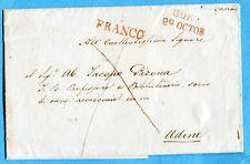 1847 GORZ 29 OCTOB + FRANCO entrambi in stampatello rosso (FRIULI) (261393)