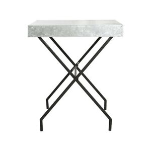 Industrial Look Brooklyn Side Table with Zinc Top by House Doctor