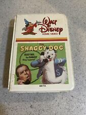 The Shaggy Dog Walt Disney Home Video Tape BETAMAX NOT VHS TESTED ROUGH CLAM
