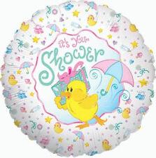 "BABY SHOWER BALLOON 18"" IT'S YOUR SHOWER BABY SHOWER DUCK FOIL BETALLIC BALLOON"