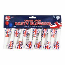12 Union Jack Blowers Royal Wedding Football Party Blowout Loot Bag Filler Toy