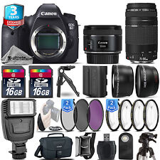 Canon EOS 6D Camera + 50mm STM + 75-300 + Extra Battery -32GB Kit +3yr Warranty