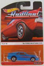 Hot Wheels 2015 Heritage REDLINE '84 Ford Mustang SVO Fox Body Grabber Blue