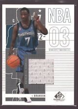 TERRELL BRANDON 2002-03 SP GAME USED WORN JERSEY PATCH WOLVES CAVS OREGON $12