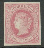 SPANISCH-WESTINDIEN 1866 Königin Isabella II Jahreszahl 1866, 40 C rosa, postfr.