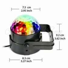 Sound Actived RGB LED Stage Light Crystal Ball Disco Xmas Club DJ Party  UK