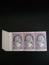 ALBANIA 1928, King Zog SG 258, Top value 5f, Marginal Block of 3 MNH.