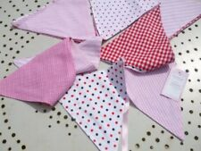 Powell Craft Handmade Pink Bunting - Perfect for Nursery / Babies Room / Play