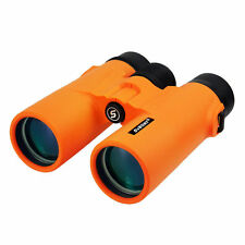 Binoculars SVBONY 10x42 Orange HD Multi-Coated Compact Folding+Carrying Bag UK