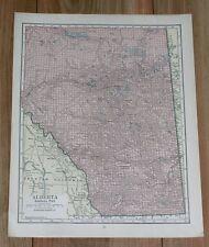 1928 ORIGINAL VINTAGE MAP OF ALBERTA / CANADA