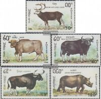 Laos 1227-1231 (kompl.Ausg.) postfrisch 1990 Tiere: Pflanzenfresser