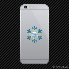 South Dakota Snowflake Cell Phone Sticker Mobile SD snow flake snowboard skiing