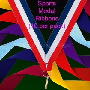 Sports Medal Neck Ribbons / Lanyards - Various Colours Available -10 Per Pack