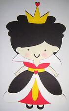Alice in Wonderland Queen of Hearts Die Cut Paper Doll Scrapbook Embellishment