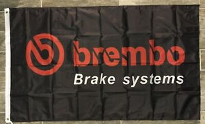 Brembo Brake Systems Logo Flag 3X5 Garage Wall Banner Man Cave Ford Chevy Acura