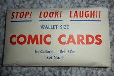 Vintage WW2 era Wallet Size Comic Cards Series 4, risque naughty humor, 1940s?