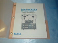 AKAI GX-400D  REELTO REEL TAPE DECK  OPERATOR'S MANUAL