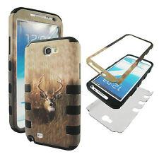Hybrid Tuff Deer In Field Samsung Galaxy Note II 2 N7100 Case Cover CV