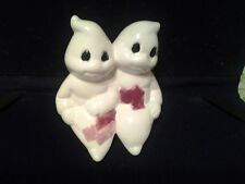 ceramic Friendly Ghosts. hand painted.  free shipping.