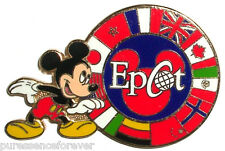 WDW Epcot: Mickey with Circle of World Showcase Flags Pin