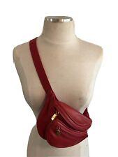 Auténtico bolso de Gucci Cinturón Fanny Pack en rojo magnífico