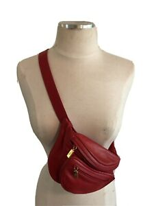 Authentic Gucci Belt Bag Fanny Pack In Gorgeous Red