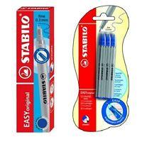 Stabilo Easy Original Rollerball Pen 0.3mm Blue Refills - Pack of 3, 6, 9