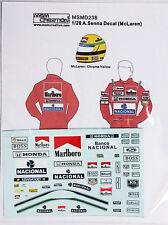 1/20 A. Senna Figure Decal McLaren *Tamiya/Fujimi
