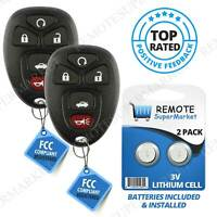 2 for Buick Lucerne 2006 2007 2008 2009 2010 2011 Remote Entry Keyless key Fob