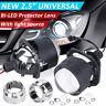 """2.5"""" Bi LED Projector Lens Car LED Headlight with bulb + Shrouds H4/H7/9005/9006"""