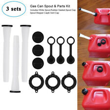 3 Sets Replacement Gas Can Spout & Part Kit for Rubbermaid Blitz Wedco Scepter