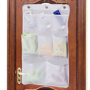 8 Pockets Mesh Shower Organizer Hanging Caddy with Rotating Hanger