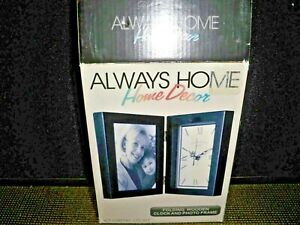 ALWAYS HOME HOME DECOR FOLDING WOODEN CLOCK AND PHOTO FRAME