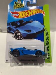 Hot Wheels Lamborghini Aventador J International Card 196/250 HTF SEALED [blue]