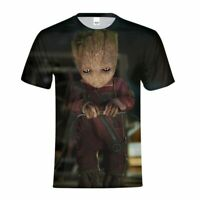 Men's Baby Groot T-shirt Marvel Guardians Of The Galaxy Shirt Short Sleeves