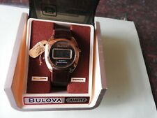 RARE VINTAGE NEW OLD STOCK BULOVA SOLID STATE LCD QUARTZ WATCH WITH ORIGINAL BOX