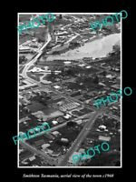 OLD 8x6 HISTORIC PHOTO OF SMITHTON TASMANIA AERIAL VIEW OF THE TOWN c1960 2